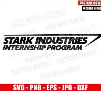 Stark Industries Internship Program (SVG dxf png) Tony Stark Company Marvel Logo Cricut Silhouette Vector Clipart - Don Vito Design Store