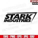 Stark Industries Logo (SVG dxf png) Marvel Comics Tony Stark Company Cricut Silhouette Vector Clipart T-Shirt Design Iron Man svg