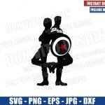 Steve and Bucky Couple (SVG dxf png) Captain America Winter Soldier Stucky Cricut Silhouette Vector Clipart Design Marvel Avengers svg