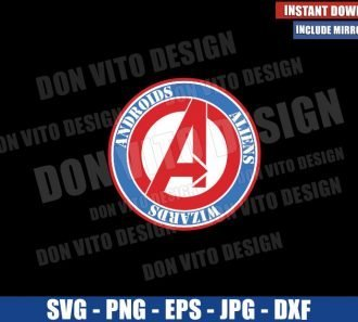 Avengers Logo The Big 3 (SVG dxf png) Androids Aliens Wizards Cut File Cricut Silhouette Vector Clipart