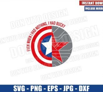 I had Bucky (SVG dxf png) Falcon and Winter Soldier Shield Logo Cut File Cricut Silhouette Vector Clipart - Don Vito Design Store
