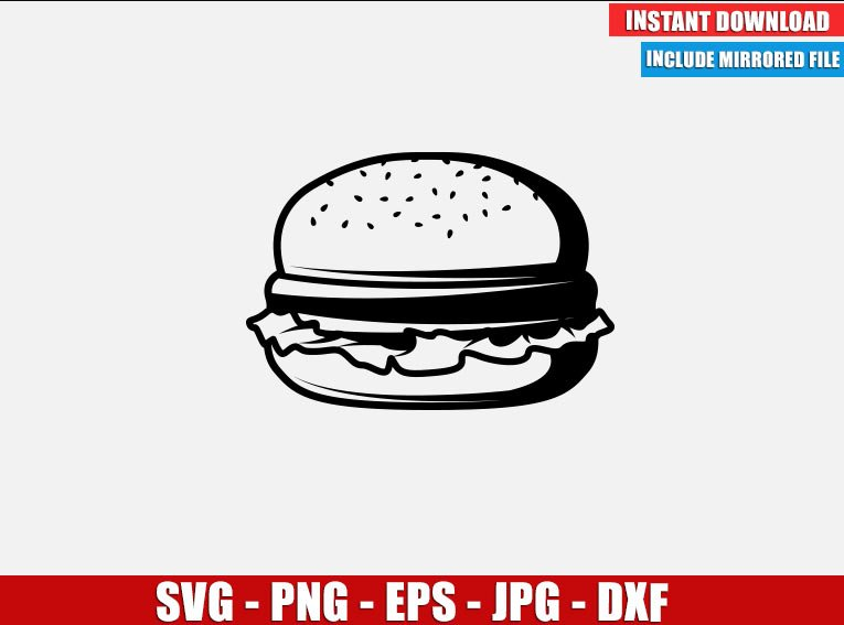 Burger SVG Free Cut File for Cricut Silhouette Freebie Meat Bread Lettuce Food Clipart Vector PNG Image Download Free - Don Vito Design Store
