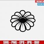 Flower SVG Free Cut File for Cricut Silhouette Freebie Garden Plant Daisy Margaret Clipart Vector PNG Image Download Free SVG Design