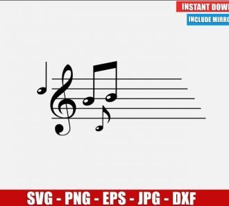 Musical Notes SVG Free Cut File for Cricut Silhouette Freebie Music Note Clipart Vector PNG Image Download Free