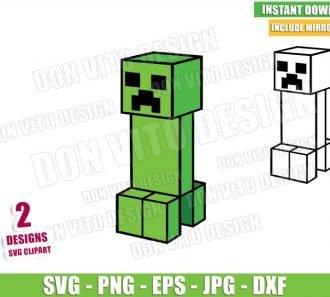 Creeper Minecraft (SVG dxf png) Game Pixel Art Block Hostile Mobs Cut File Cricut Silhouette Vector Clipart - Don Vito Design Store