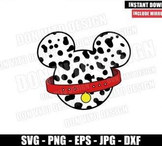 Dalmatian Mickey Ears (SVG dxf png) Disney Cruella De Vil Cut File Cricut Silhouette Vector Clipart - Don Vito Design Store