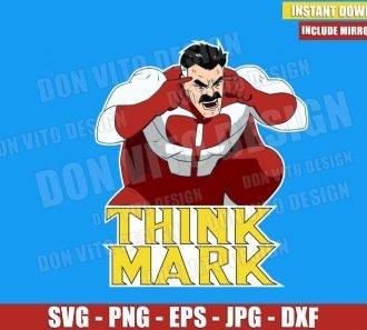 Omni-Man Think Mark (SVG dxf png) Invincible Super Hero TV Series Cut File Cricut Silhouette Vector Clipart