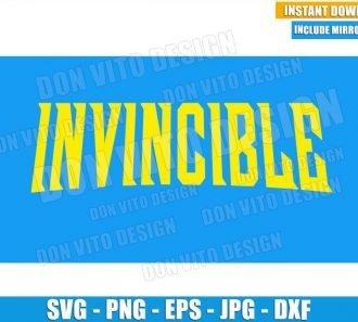 Invincible Logo (SVG dxf png) Super Hero TV Movie Series Cut File Cricut Silhouette Vector Clipart - Don Vito Design Store