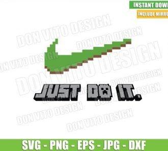 Nike Minecraft Logo (SVG dxf png) Just Do It Gamer Pixel Art Block Cut File Cricut Silhouette Vector Clipart - Don Vito Design Store