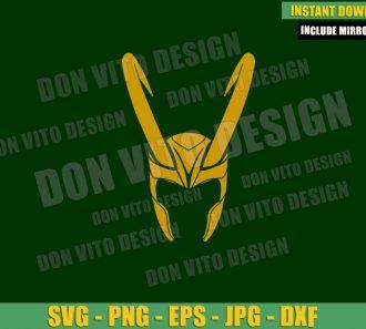 Loki Helmet (SVG dxf png) Disney Tv Series Loki Horned Symbol Cut File Cricut Silhouette Vector Clipart - Don Vito Design Store
