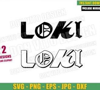 Loki Logo (SVG dxf png) Disney Tv Series 2021 Loki Title Outline Cut File Cricut Silhouette Vector Clipart - Don Vito Design Store