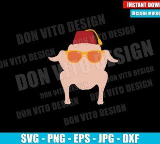 Monica Geller Turkey Head (SVG dxf png) Friends Tv Series Logo Sunglasses Hat Cut File Cricut Silhouette Vector Clipart - Don Vito Design Store