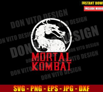 Mortal Kombat Grunge Logo (SVG dxf png) Dragon MK Movie Cut File Cricut Silhouette Vector Clipart - Don Vito Design Store