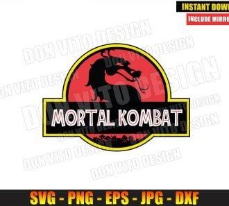 Mortal Kombat Jurassic Park (SVG dxf png) MK Dragon Logo Movie Cut File Cricut Silhouette Vector Clipart - Don Vito Design Store