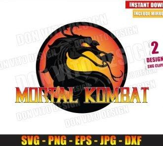 Mortal Kombat Fire Logo (SVG dxf png) Movie Video Game Fight Cut File Cricut Silhouette Vector Clipart - Don Vito Design Store