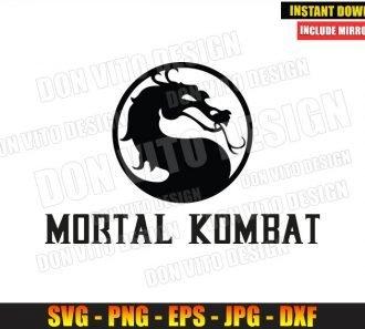 Mortal Kombat Logo (SVG dxf png) Dragon Video Game Fight Movie Cut File Cricut Silhouette Vector Clipart - Don Vito Design Store