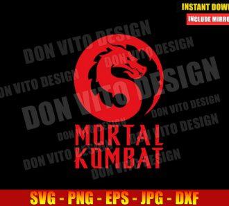 Mortal Kombat Movie Logo (SVG dxf png) Video Game Red Dragon Fight Cut File Cricut Silhouette Vector Clipart - Don Vito Design Store