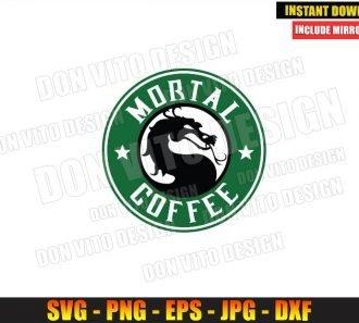 Mortal Kombat Starbucks Logo (SVG dxf png) MK Dragon Coffee Label Cut File Cricut Silhouette Vector Clipart - Don Vito Design Store