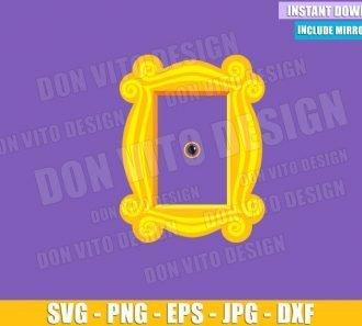 Friends Peephole Door Frame (SVG dxf png) Monica Apartment Tv Show Logo Cut File Cricut Silhouette Vector Clipart - Don Vito Design Store