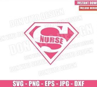 Superman Nurse Logo (SVG dxf png) Super Nursing Hero Hospital Cricut Silhouette Vector Clipart - Don Vito Design Store