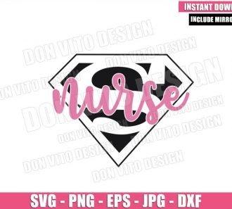 Super Nurse (SVG dxf png) Superman Logo Hero Nursing Hospital Cricut Silhouette Vector Clipart - Don Vito Design Store