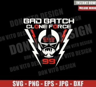 Bad Batch Wrecker Logo (SVG dxf png) Clone Force 99 Helmet Disney Cut File Cricut Silhouette Vector Clipart - Don Vito Design Store