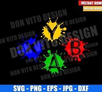 Xbox Buttons Paint Splatter (SVG dxf png) Gamer Blotch Splash Cut File Cricut Silhouette Vector Clipart - Don Vito Design Store