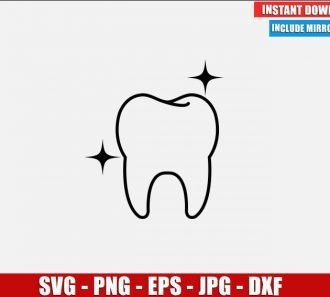 Clean Tooth SVG Free Cut File for Cricut Silhouette Freebie Dental Teeth Clipart Vector PNG Image Download Free