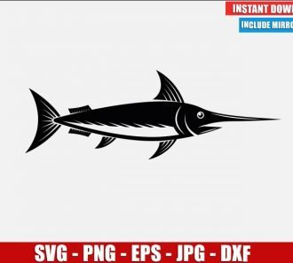 Swordfish SVG Free Cut File for Cricut Silhouette Freebie Fish Sea Clipart Vector PNG Image Download Free