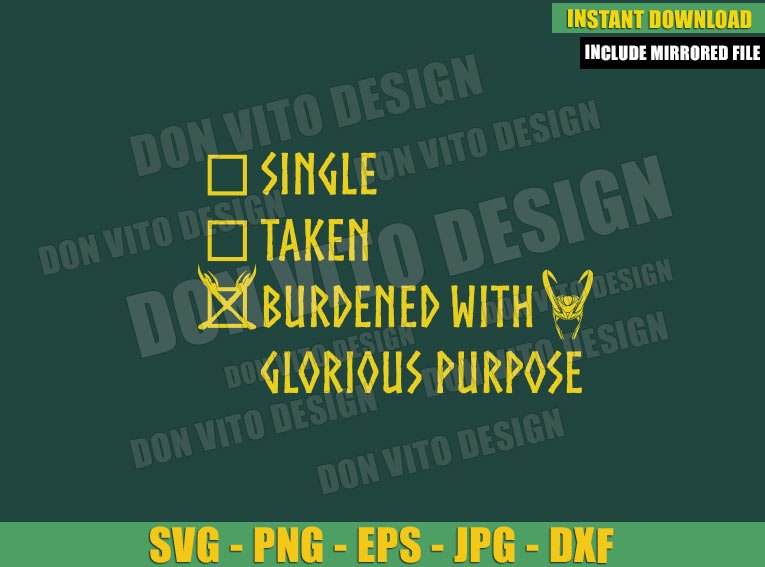 Loki Checklist (SVG dxf png) Single Taken Helmet Sceptre Disney Tv Series Cut File Cricut Silhouette Vector Clipart - Don Vito Design Store
