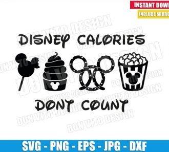 Disney Calories Don't Count (SVG dxf png) Mickey Snacksgoals Popcorn Cut File Cricut Silhouette Vector Clipart - Don Vito Design Store