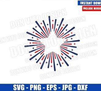 Firework Star (SVG dxf png) United States Celebration Patriotic USA Cut File Cricut Silhouette Vector Clipart - Don Vito Design Store