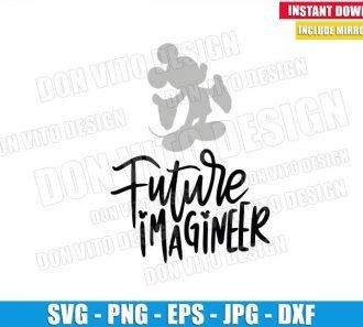 Future Imagineer Mickey Mouse (SVG dxf png) Disney Parks Job Cut File Cricut Silhouette Vector Clipart - Don Vito Design Store