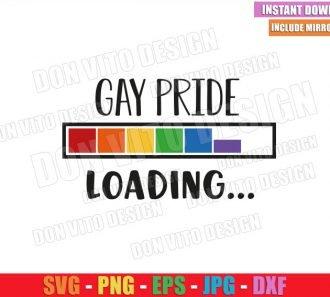 Gay Pride Loading (SVG dxf png) Rainbow Progress Bar LGBT Colors Cut File Cricut Silhouette Vector Clipart - Don Vito Design Store