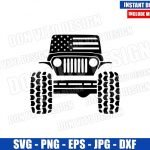 Jeep USA Flag (SVG dxf png) American Patriotic United States Car Cut File Cricut Silhouette Vector Clipart Design 4th of July svg