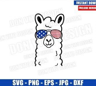 Llama USA Sunglasses (SVG dxf png) Patriotic Llamerica United States Cut File Cricut Silhouette Vector Clipart - Don Vito Design Store