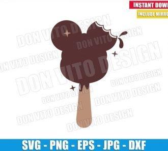 Mickey Ice Cream Bar (SVG dxf png) Disney Snack Chocolate Ears Cut File Cricut Silhouette Vector Clipart - Don Vito Design Store