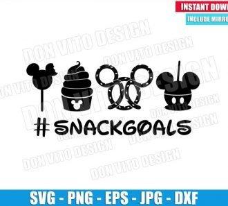 Snacksgoals Mickey Mouse Head (SVG dxf png) Trip to Disney Pretzel Snack Cut File Cricut Silhouette Vector Clipart - Don Vito Design Store