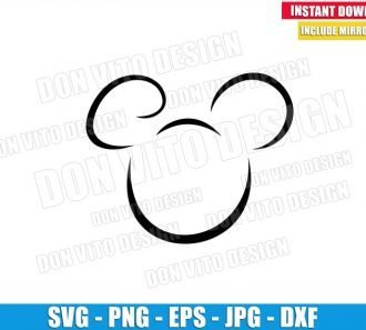 Mickey Mouse Head Outline (SVG dxf png) Disney Ears Cut File Cricut Silhouette Vector Clipart - Don Vito Design Store