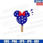 Minnie USA Ice Cream (SVG dxf png) United States Snack Ears Cut File Cricut Silhouette Vector Clipart Design Disney 4th of July svg
