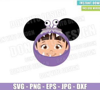 Boo Minnie Mouse Ears (SVG dxf png) Monster Inc Head Costume Cut File Cricut Silhouette Vector Clipart - Don Vito Design Store