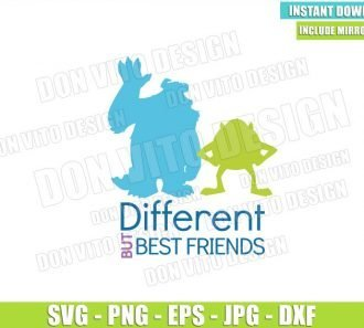 Different but Best Friends Mike Sulley (SVG dxf png) Monster Inc Cut File Cricut Silhouette Vector Clipart - Don Vito Design Store