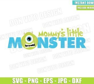 Mike Mommy's Little Monster (SVG dxf png) Monster Inc Head Cut File Cricut Silhouette Vector Clipart - Don Vito Design Store
