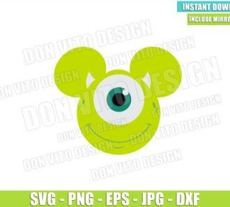 Mike Mickey Mouse Ears (SVG dxf png) Wazowski Head Monster Inc Cut File Cricut Silhouette Vector Clipart - Don Vito Design Store
