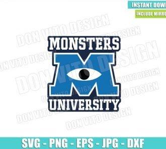 Monsters University Logo (SVG dxf png) Monster Inc School Cut File Cricut Silhouette Vector Clipart - Don Vito Design Store