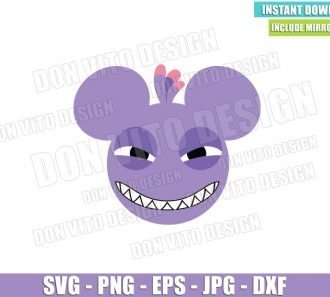 Randall Mickey Mouse Ears (SVG dxf png) Monster Inc Head Cut File Cricut Silhouette Vector Clipart - Don Vito Design Store