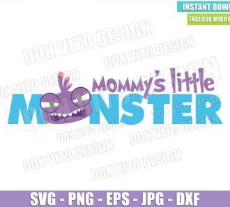Randall Mommy's Little Monster (SVG dxf png) Monster Inc Lizard Head Cut File Cricut Silhouette Vector Clipart - Don Vito Design Store