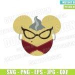 Roz Minnie Mouse Ears (SVG dxf png) Monster Inc Head Glasses Cut File Cricut Silhouette Vector Clipart Design Disney Movie svg