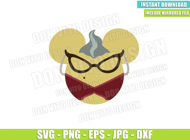 Roz Minnie Mouse Ears (SVG dxf png) Monster Inc Head Glasses Cut File Cricut Silhouette Vector Clipart - Don Vito Design Store