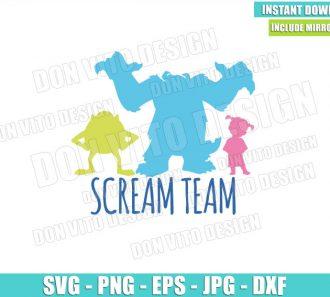 Monster Inc Scream Team (SVG dxf png) Mike Sulley Boo Cut File Cricut Silhouette Vector Clipart - Don Vito Design Store